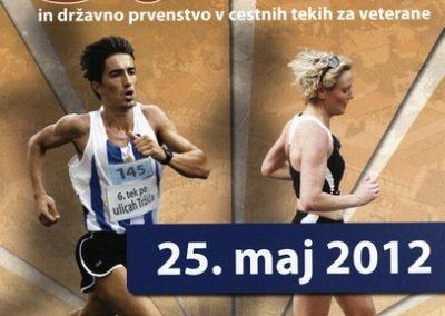Športna zveza Tržič, 2012, 6. tek po ulicah Tržiča in državno prvenstvo v cestnih tekih za veterane, letak 3