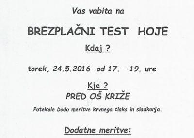 Športna zveza Tržič, 2016, Brezplačni test hoje, vabilo 3