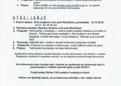 Športna zveza Tržič, 2016, Odprto občinsko prvenstvo v šahu in streljanje, vabilo 3
