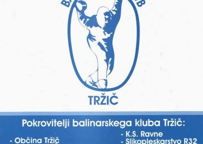 Balinarski klub Tržič, predstavitvena zloženka 3f