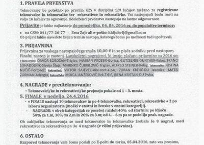 Kegljaški klub Ljubelj Tržič, Razpis in propozicije 25. odprtega mednarodnega prvenstva Tržiča 2016 3