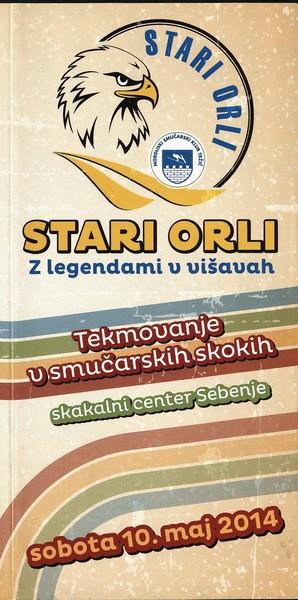 Nordijski smučarski klub Tržič, 2014, Stari orli, Tekmovanje v smučarskih skokih, predstavitvena zloženka s programom 3a