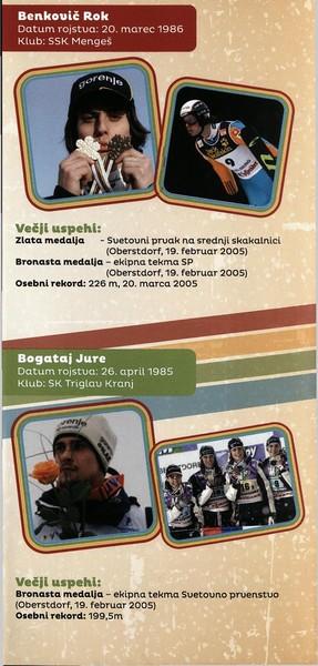 Nordijski smučarski klub Tržič, 2014, Stari orli, Tekmovanje v smučarskih skokih, predstavitvena zloženka s programom 3c