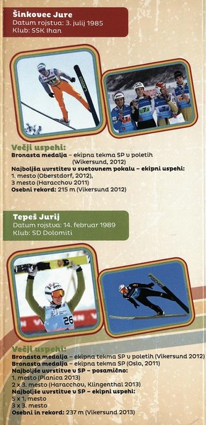 Nordijski smučarski klub Tržič, 2014, Stari orli, Tekmovanje v smučarskih skokih, predstavitvena zloženka s programom 3d