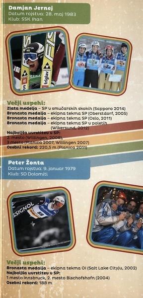 Nordijski smučarski klub Tržič, 2014, Stari orli, Tekmovanje v smučarskih skokih, predstavitvena zloženka s programom 3f