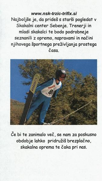 Nordijski smučarski klub, Tržič - Trifix, predstavitvena zloženka 3c
