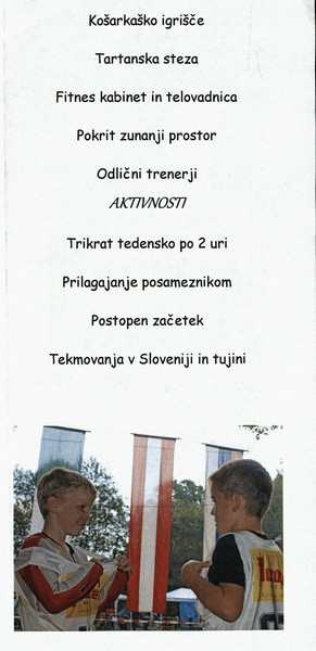 Nordijski smučarski klub, Tržič - Trifix, predstavitvena zloženka 3e