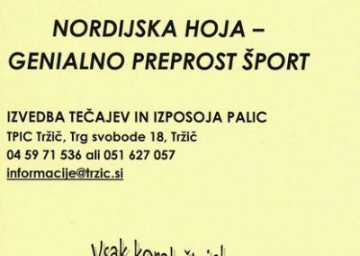 TPIC Tržič, Nordijska hoja - genialno preprost šport, predstavitveni letak 3a